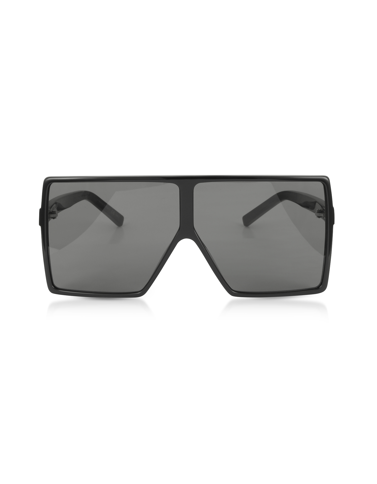 New Wave 183 Shiny Black Acetate Betty Sunglasses