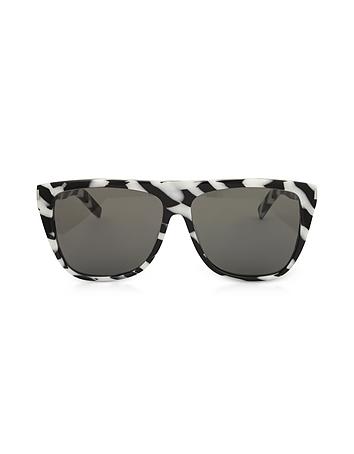 SL1 014 Black and White Zebra Striped
