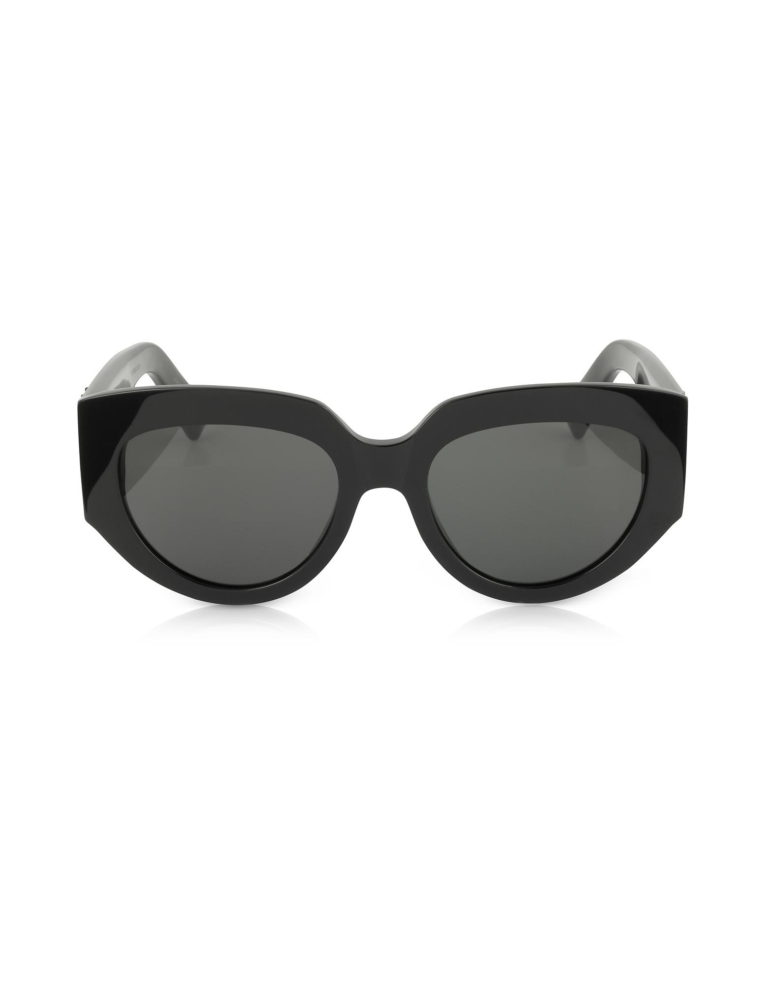 SL M26 ROPE Black Acetate Square Cat-Eye Frame Sunglasses
