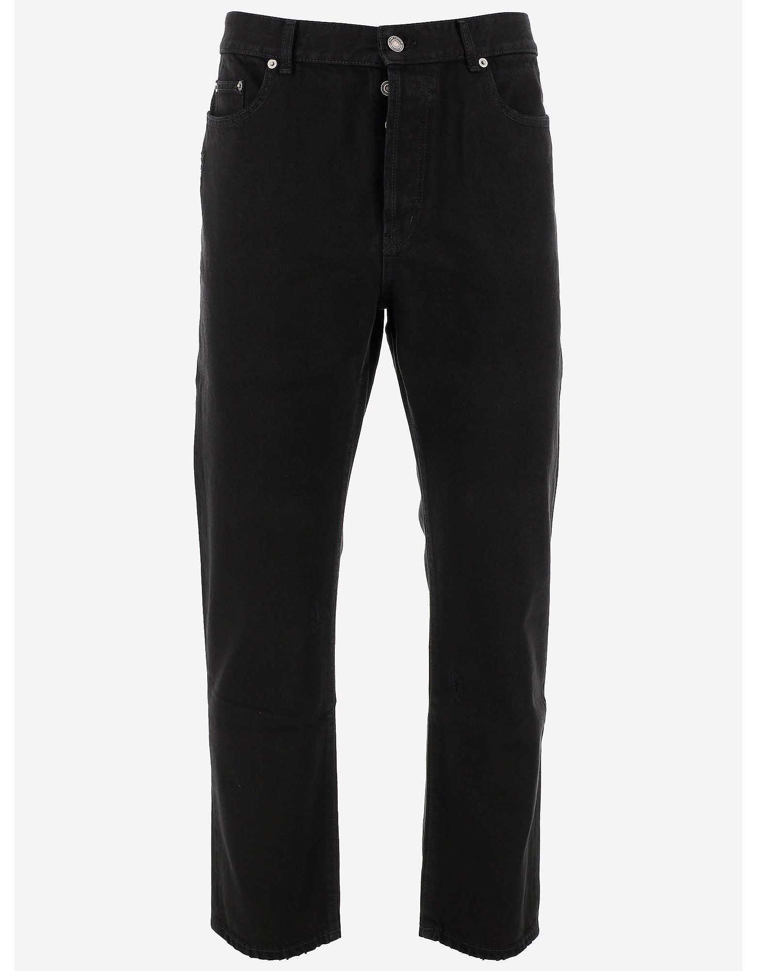 Saint Laurent Designer Jeans, Black Cotton Denim Men's Jeans
