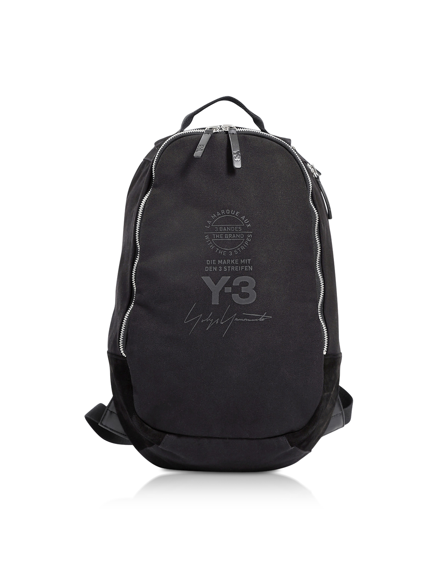 Y-3 Backpacks, Black Signature Nylon Backpack