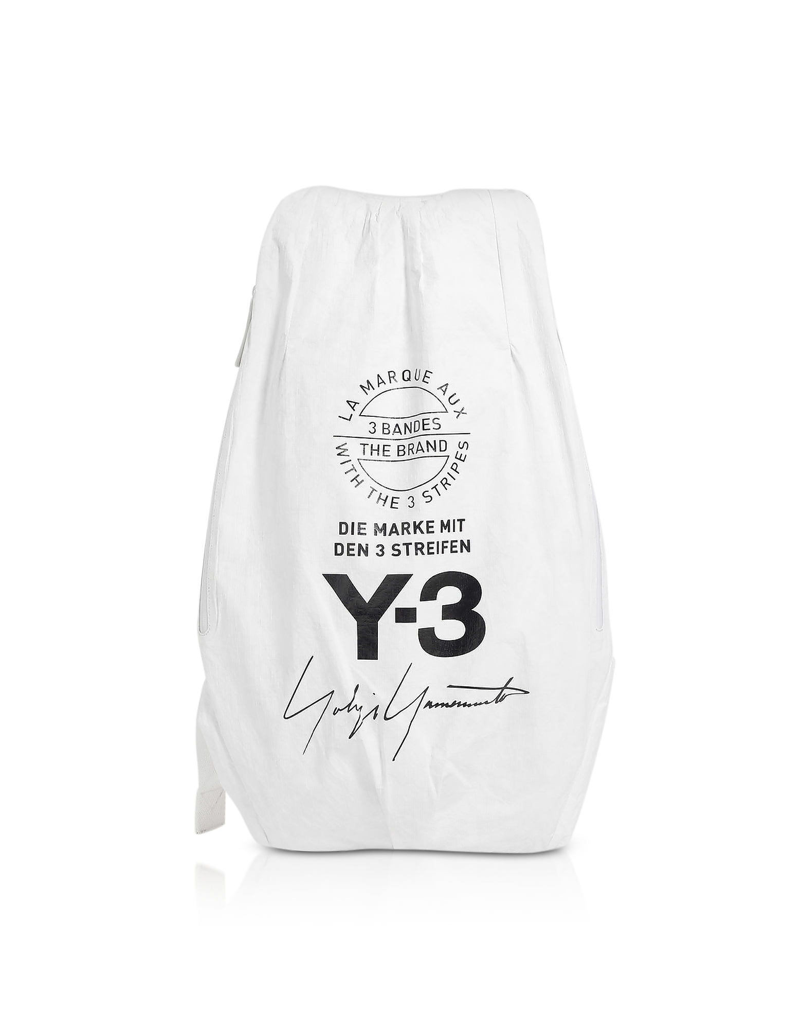 Y-3 Backpacks, Core White Y-3 Yohji Backpack