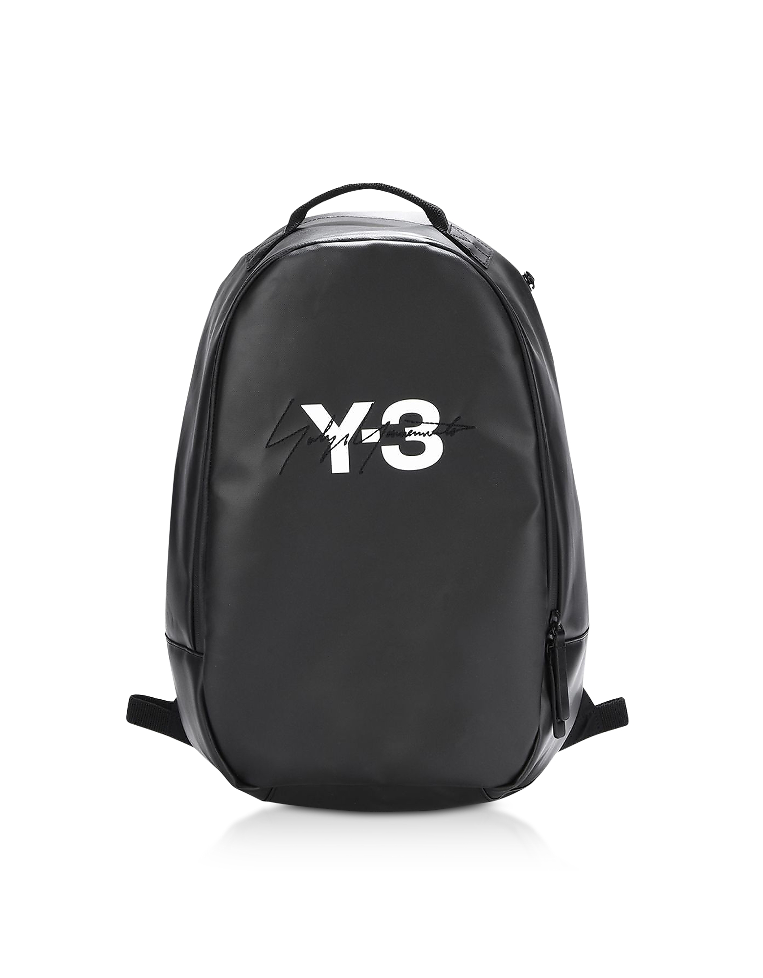 Y-3 Backpacks, Black Coated Canvas Signature Backpack