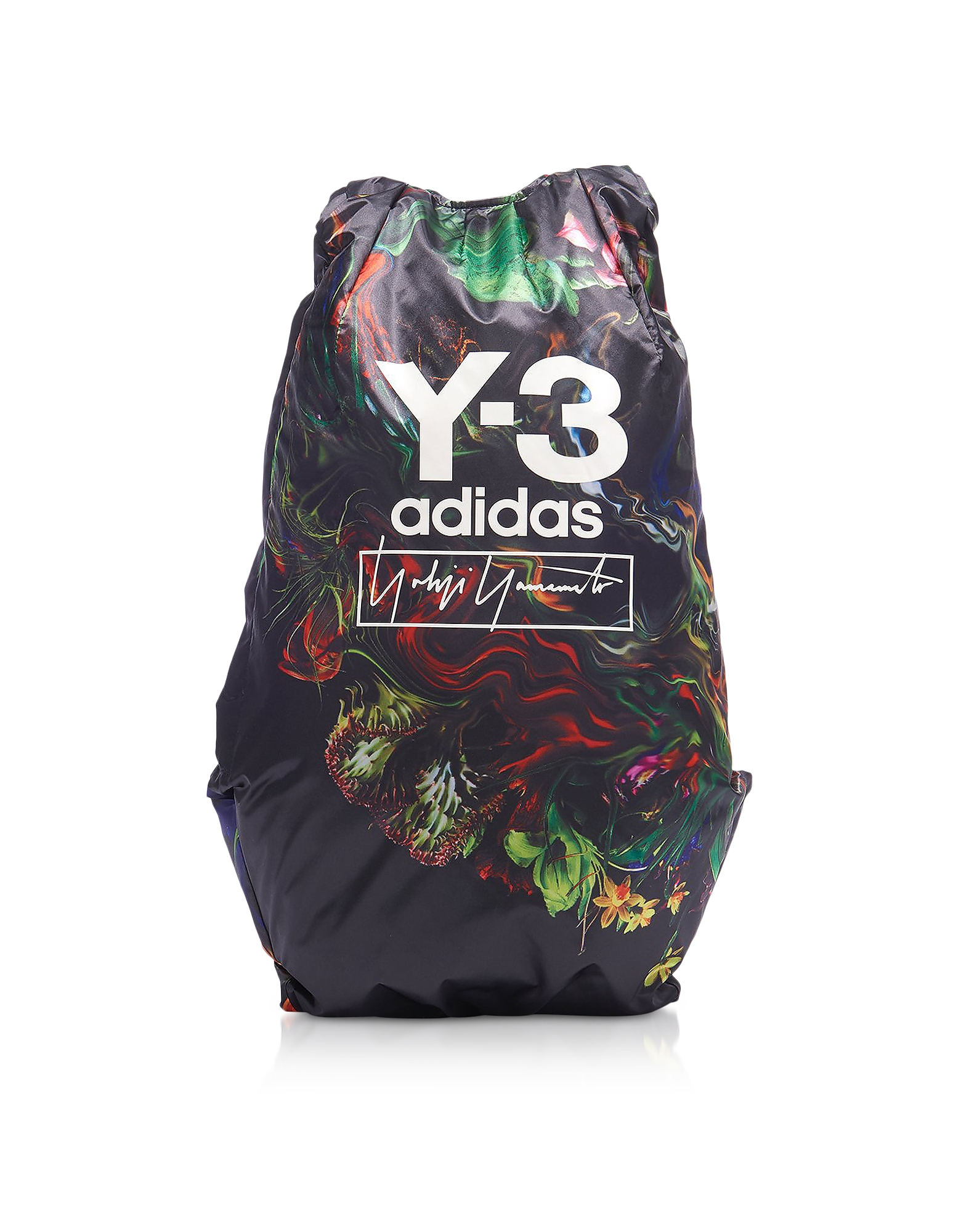 Black Y-3 Yohji AOP Backpack, Multicolor