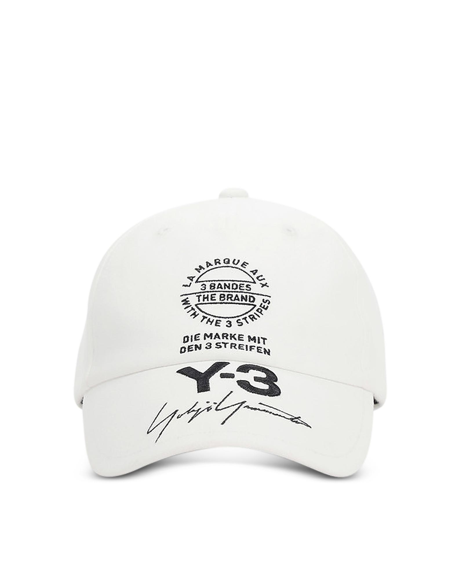 Y-3 Men's Hats, White Y-3 Cap