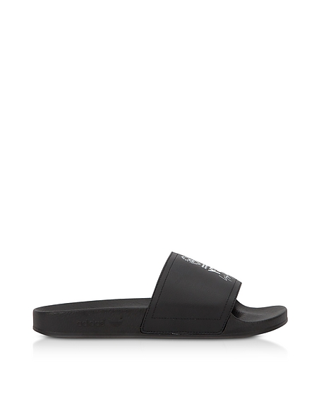 Y-3 Black and White Y-3 Adilette Slide Sandals