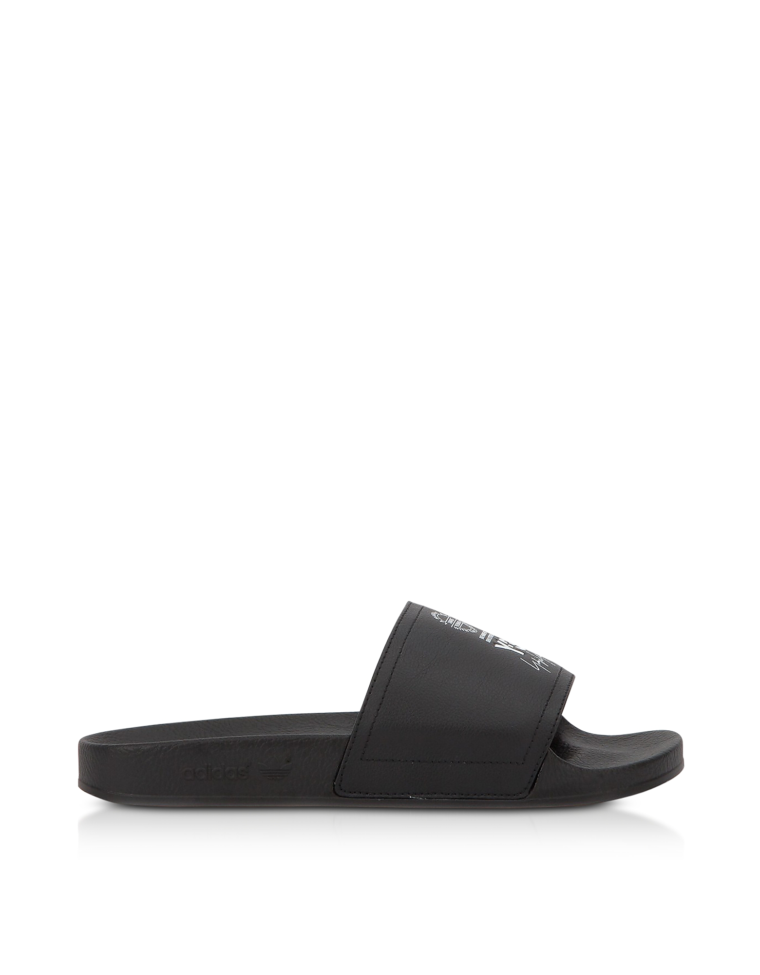 Y-3 Shoes, Black and White Y-3 Adilette Slide Sandals