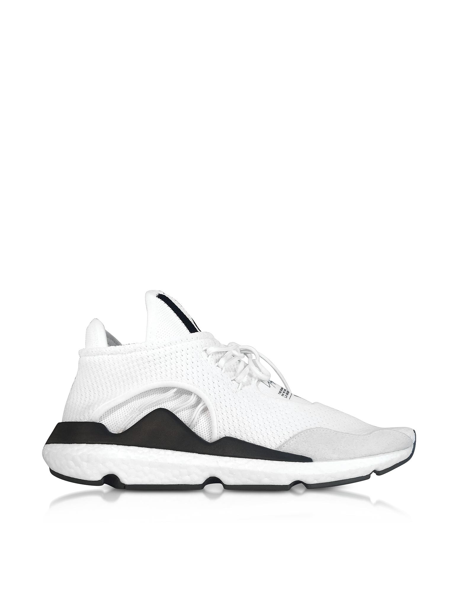 Y-3 Shoes, Core White Y-3 Saikou Sneakers