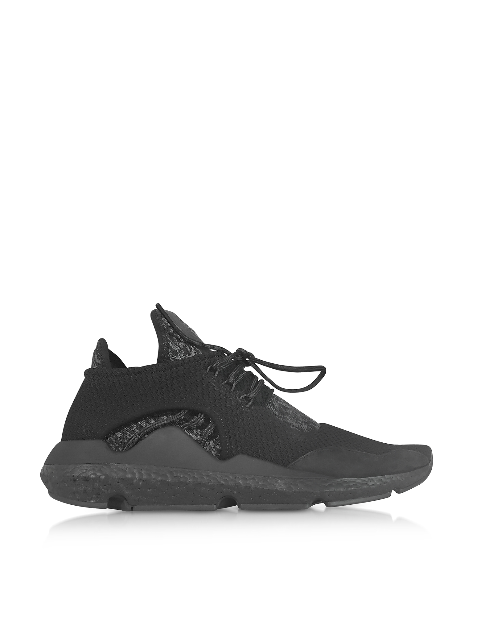 Y-3 Shoes, Black Y-3 Saikou Sneakers