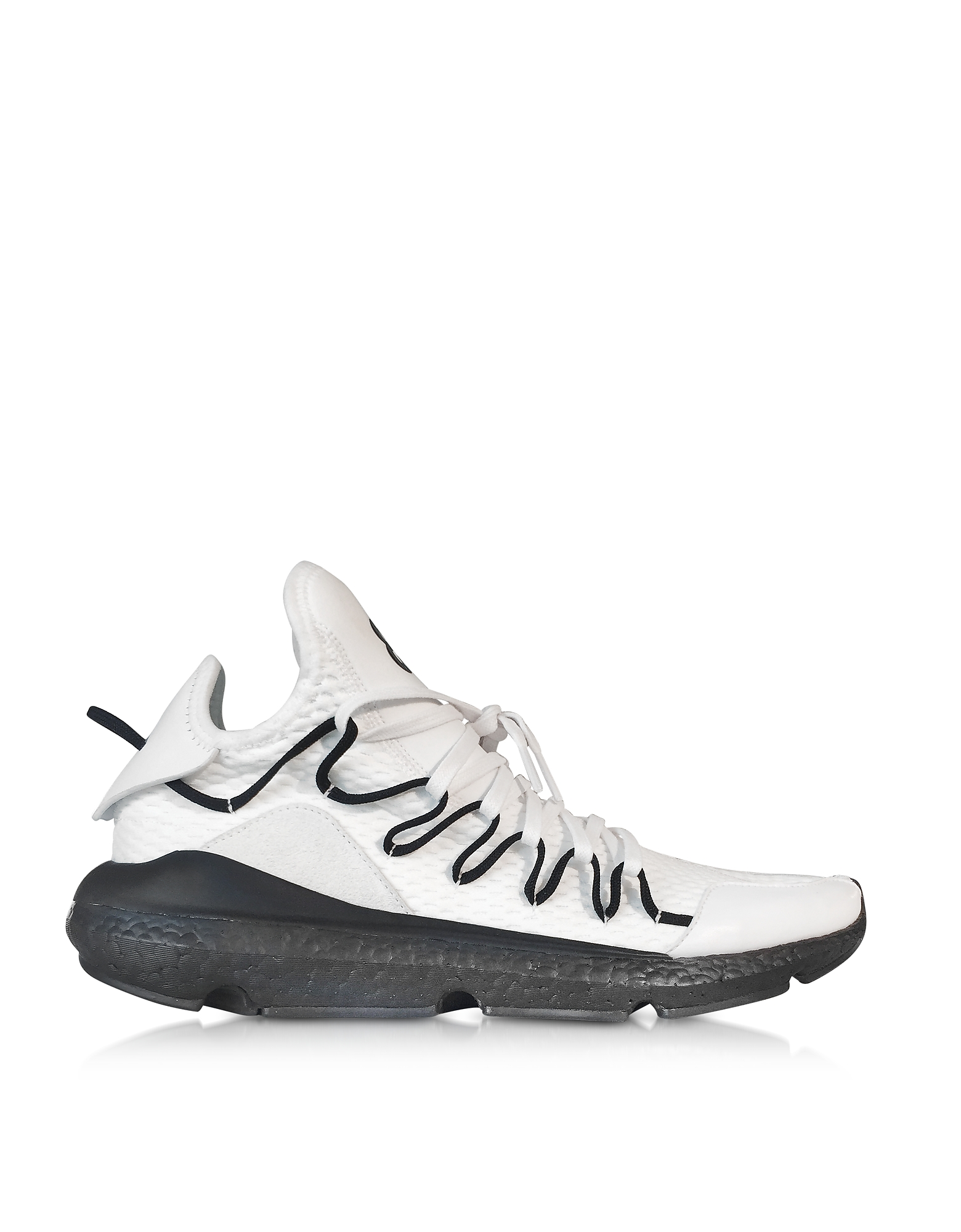 Y-3 Shoes, White Y-3 Kusari Sneakers