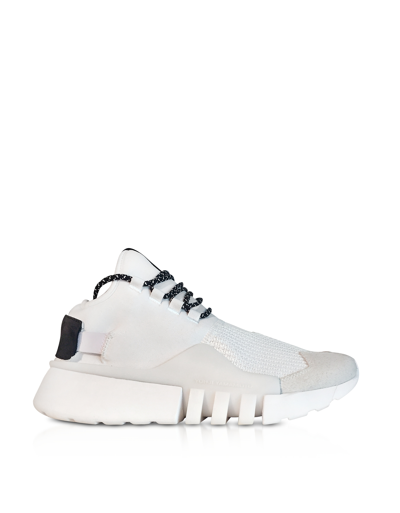 Y-3 Shoes, White Nylon Y-3 Ayero Sneakers
