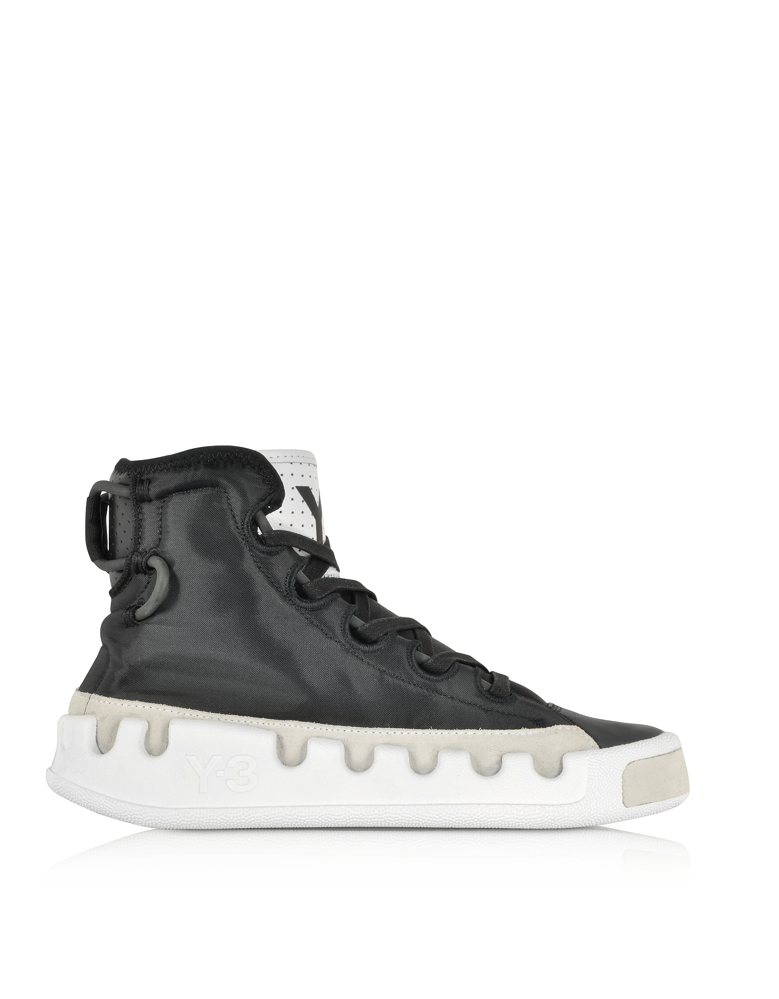 Y-3 Kasabaru Black Nylon High-Top Men's Sneakers