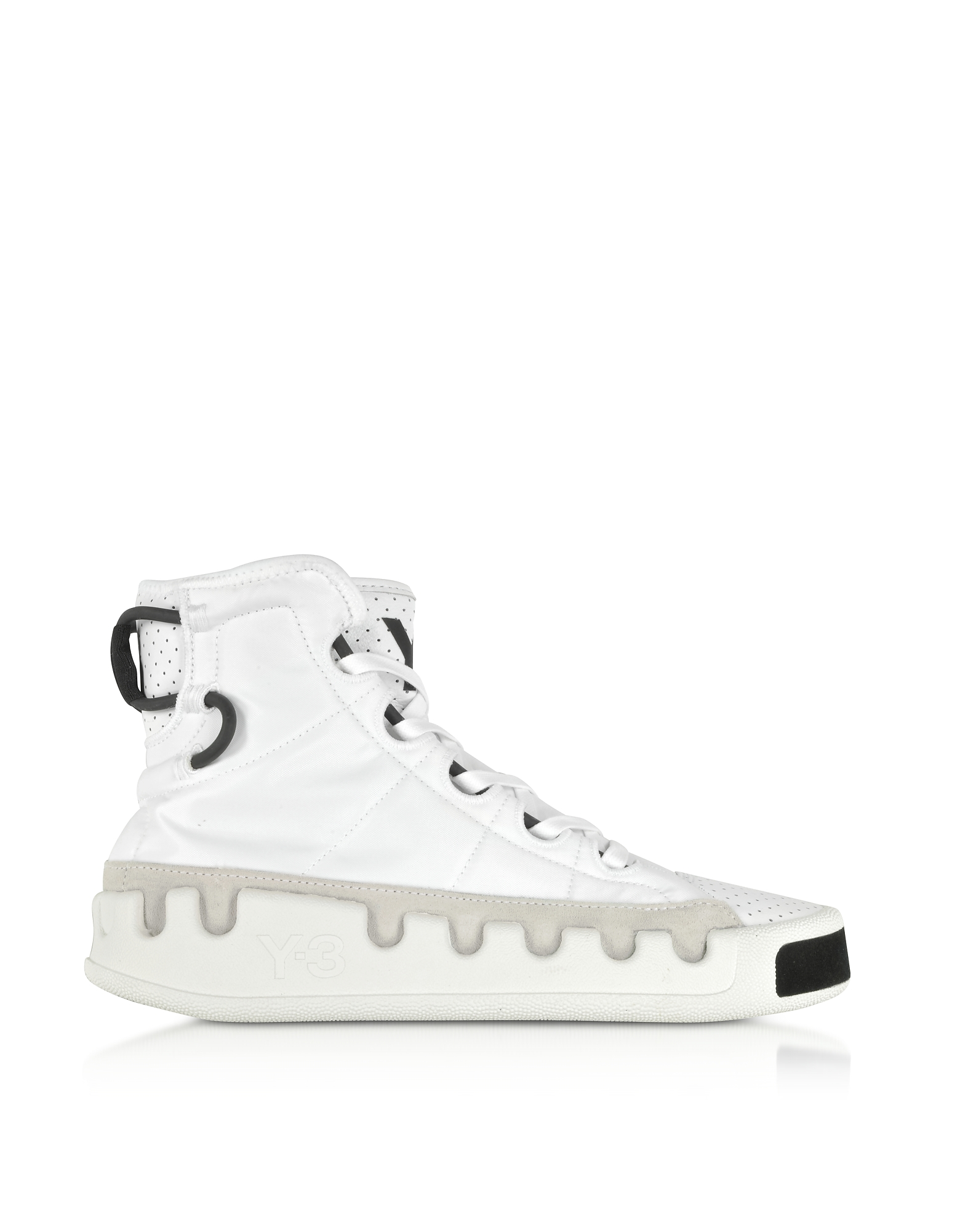 Y-3 Kasabaru White Nylon High-Top Men's Sneakers