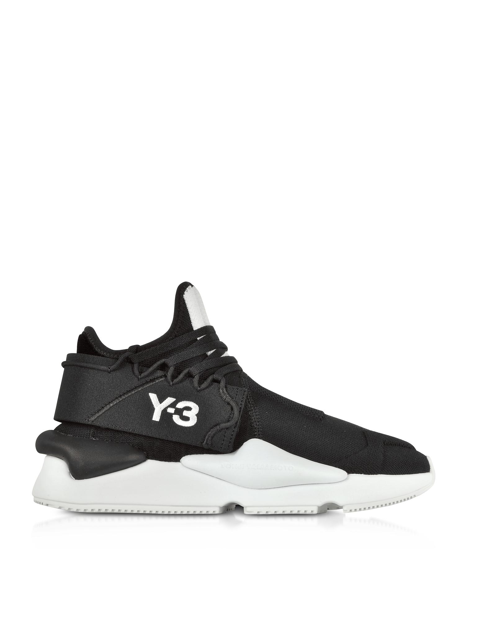 Y-3 Kaiwa Knit Black Nylon Men's Sneakers