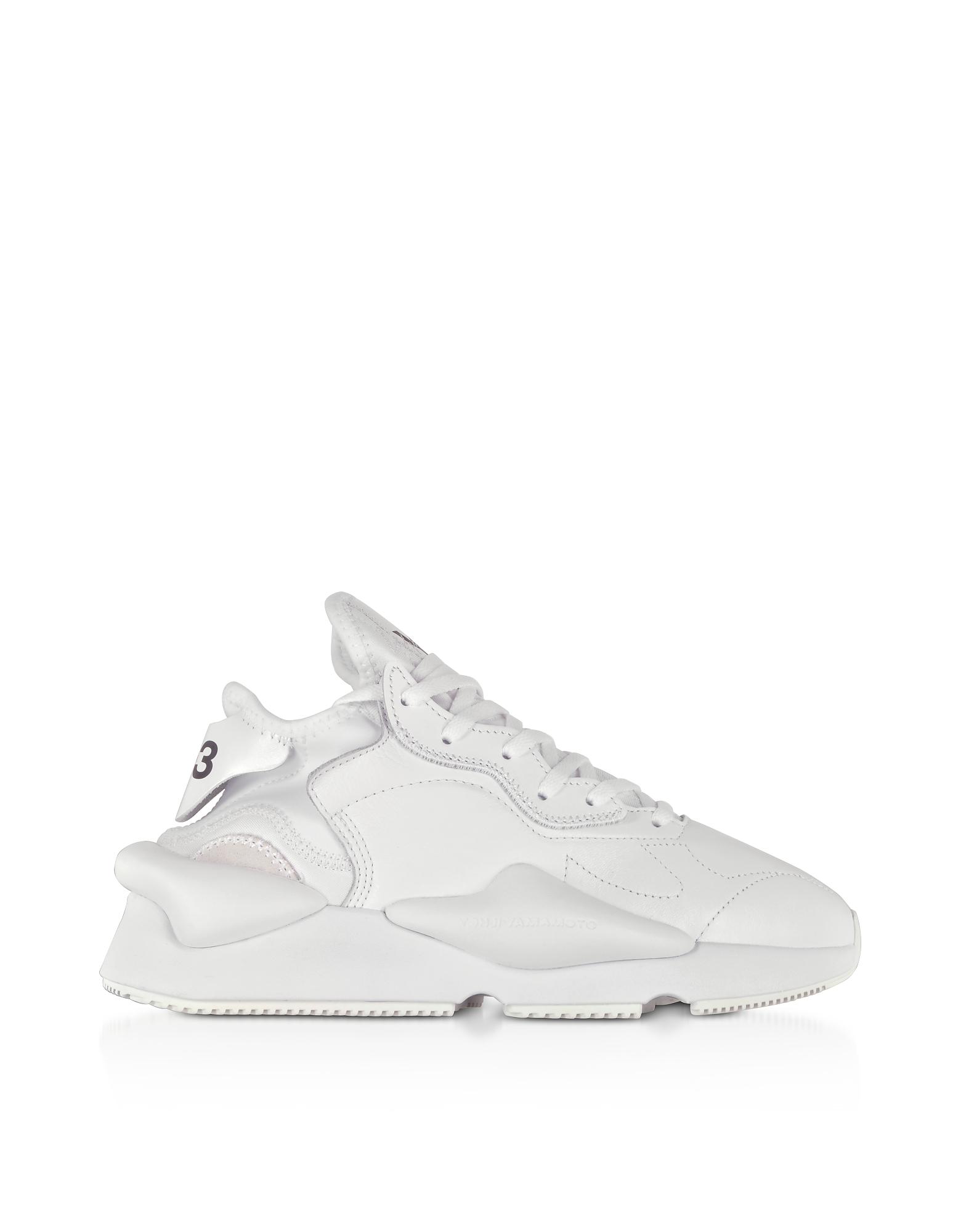 Kaiwa White Leather Unisex Sneakers
