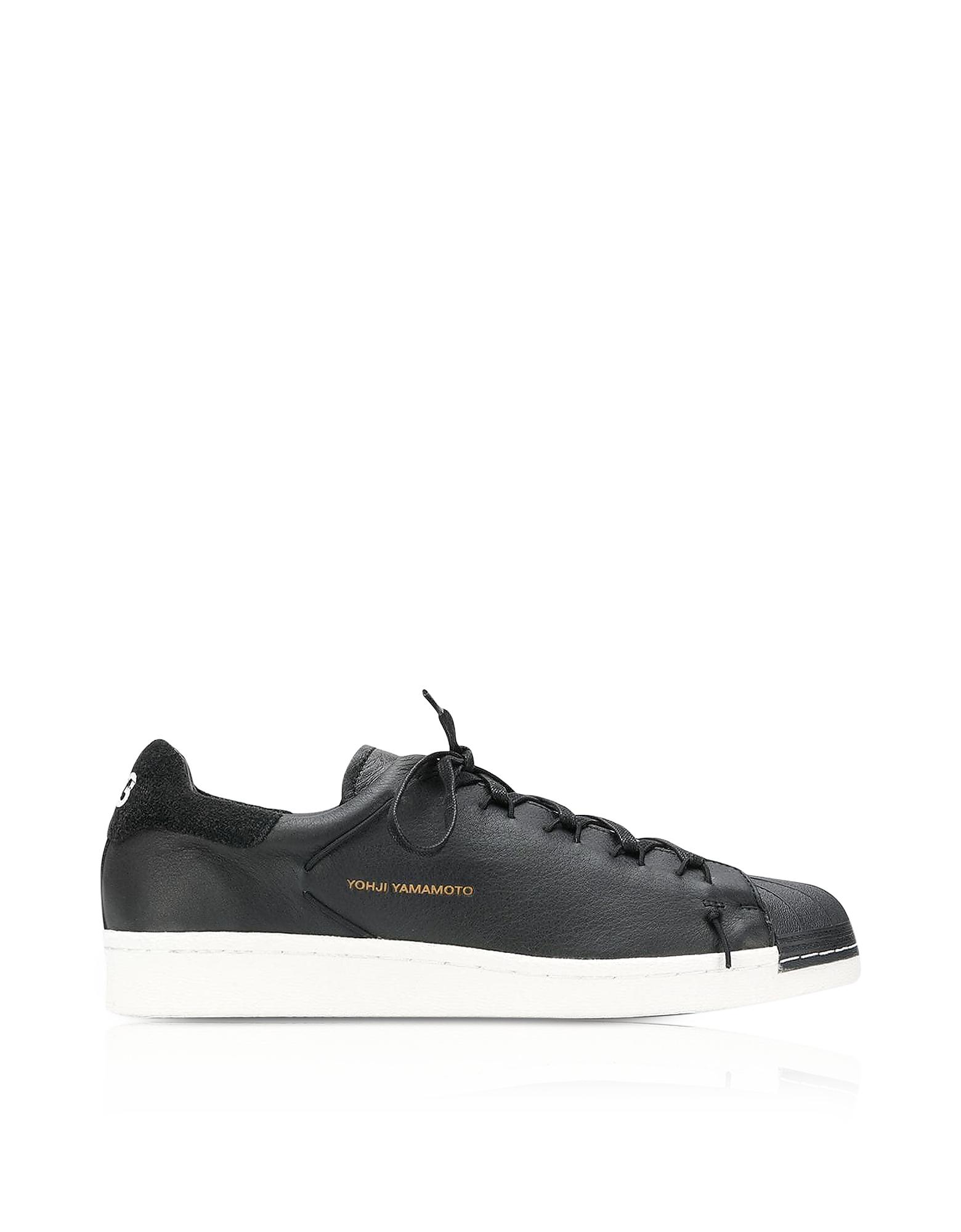 Y-3 Shoes, Black Superknot Men's Sneakers
