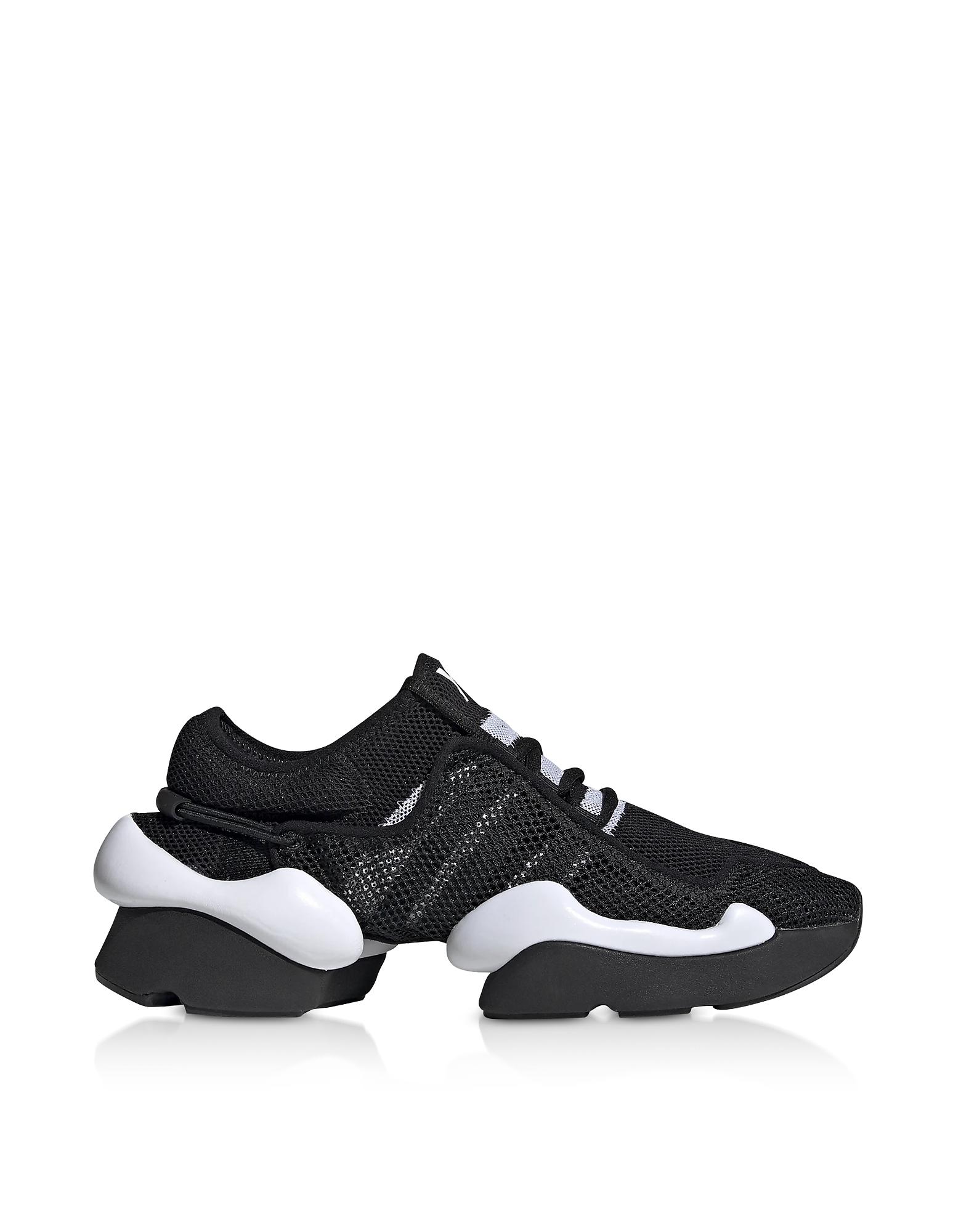 Y-3 Black Ren Sneakers, Black / white