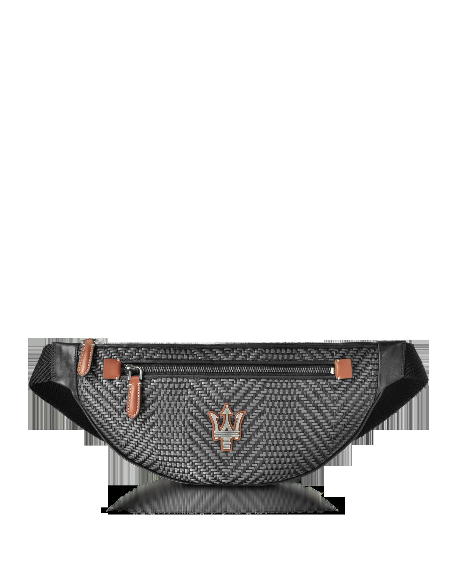 Image of Maserati Pelle Tessuta Belt Bag