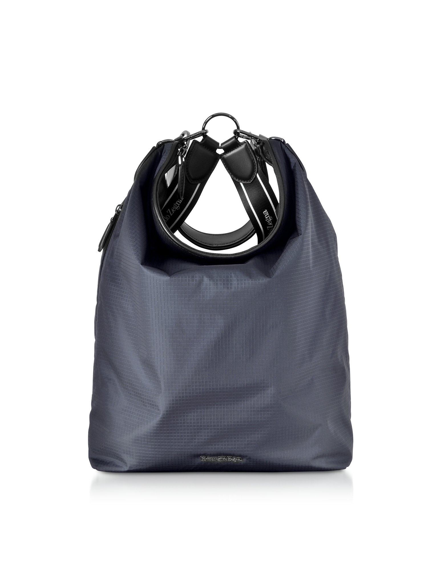 Blue Nylon Men's Tote Bag/Backpack