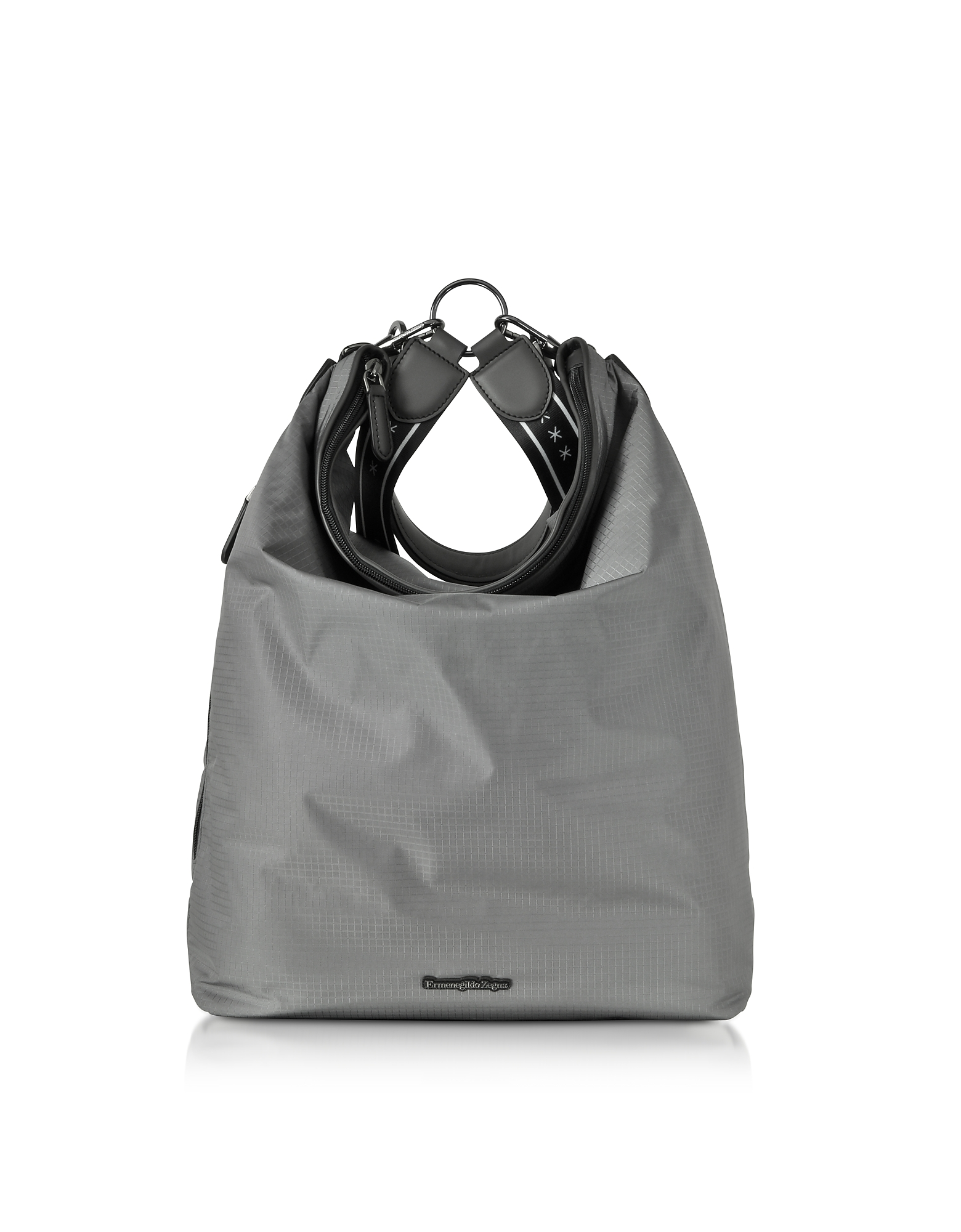 Gray Nylon Men's Tote Bag/Backpack