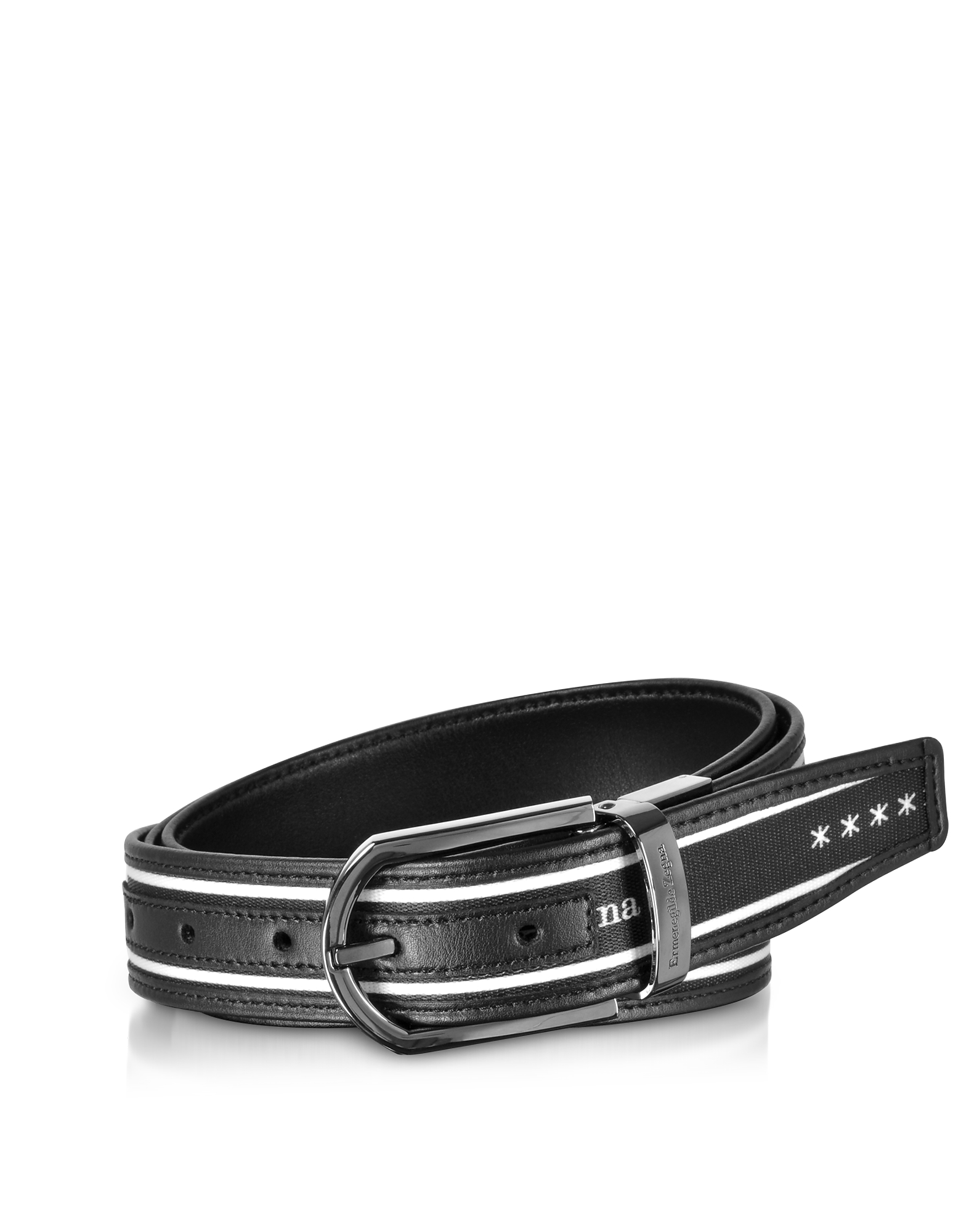 Signature Canvas and Leather Reversible Men's Belt