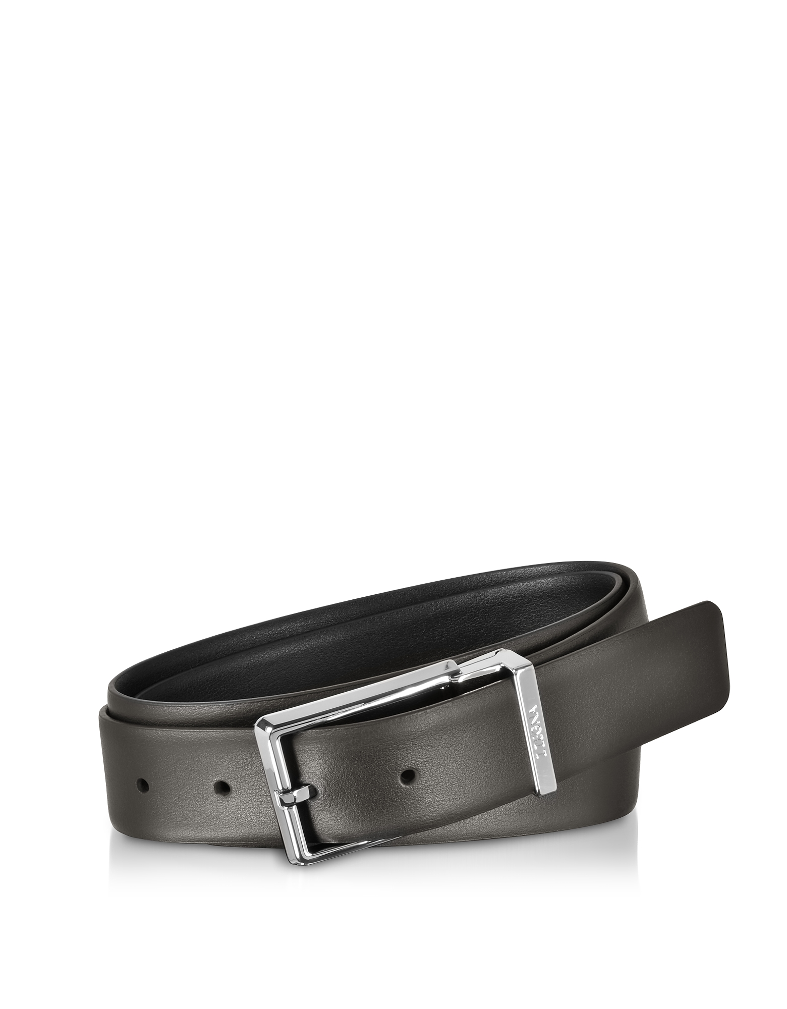 Two Tone Leather Adjustable and Reversible Men's Belt