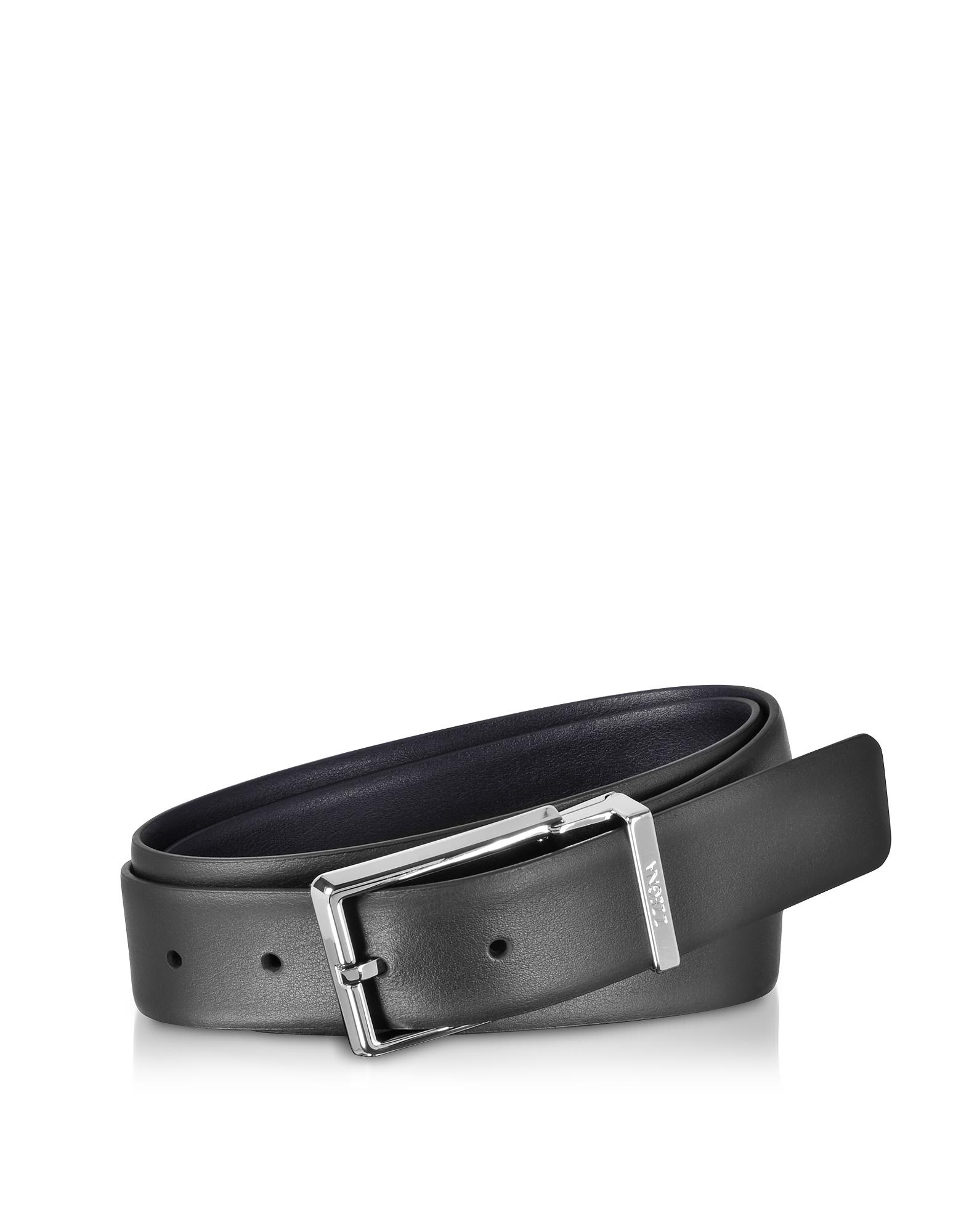 Ermenegildo Zegna Men's Belts, Two Tone Leather Adjustable and Reversible Men's Belt