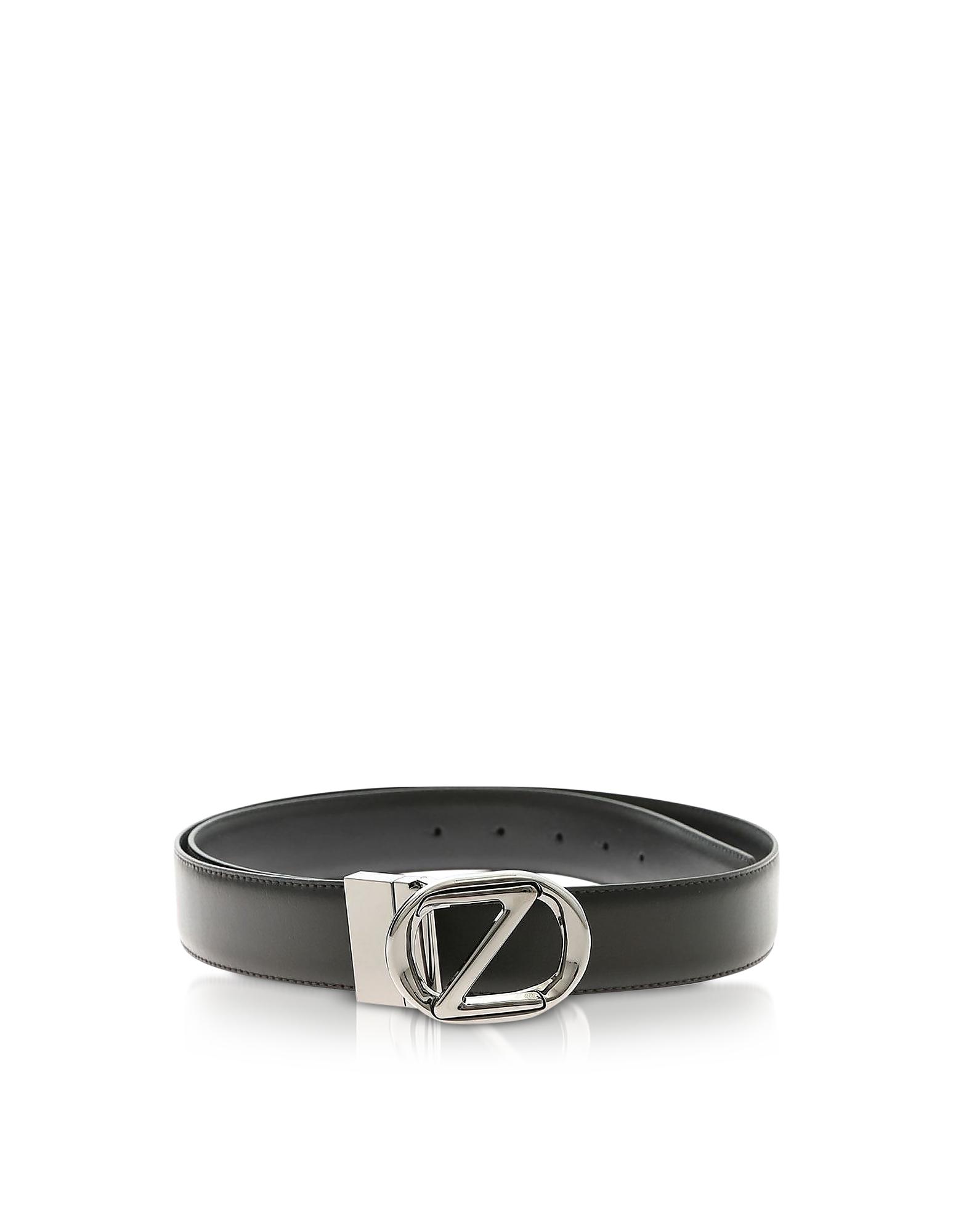 Genuine Leather Reversible and Adjustable Men's Belt