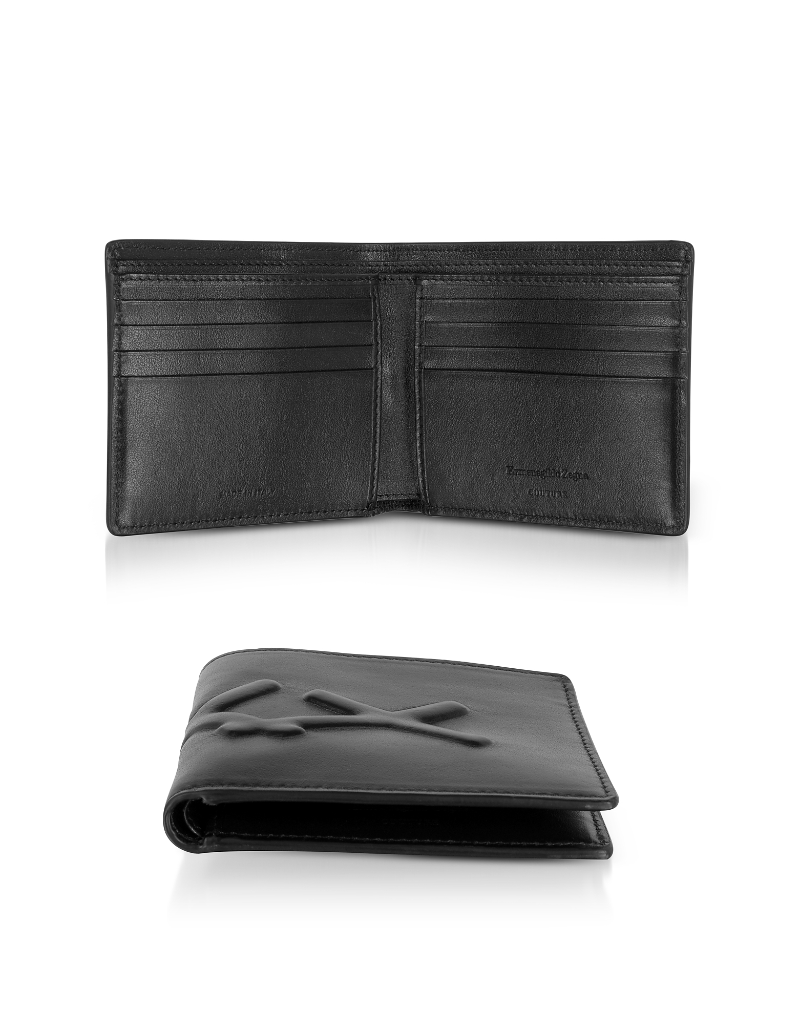 BLACK XXX EMBOSSED LEATHER BILLFOLD WALLET from FORZIERI