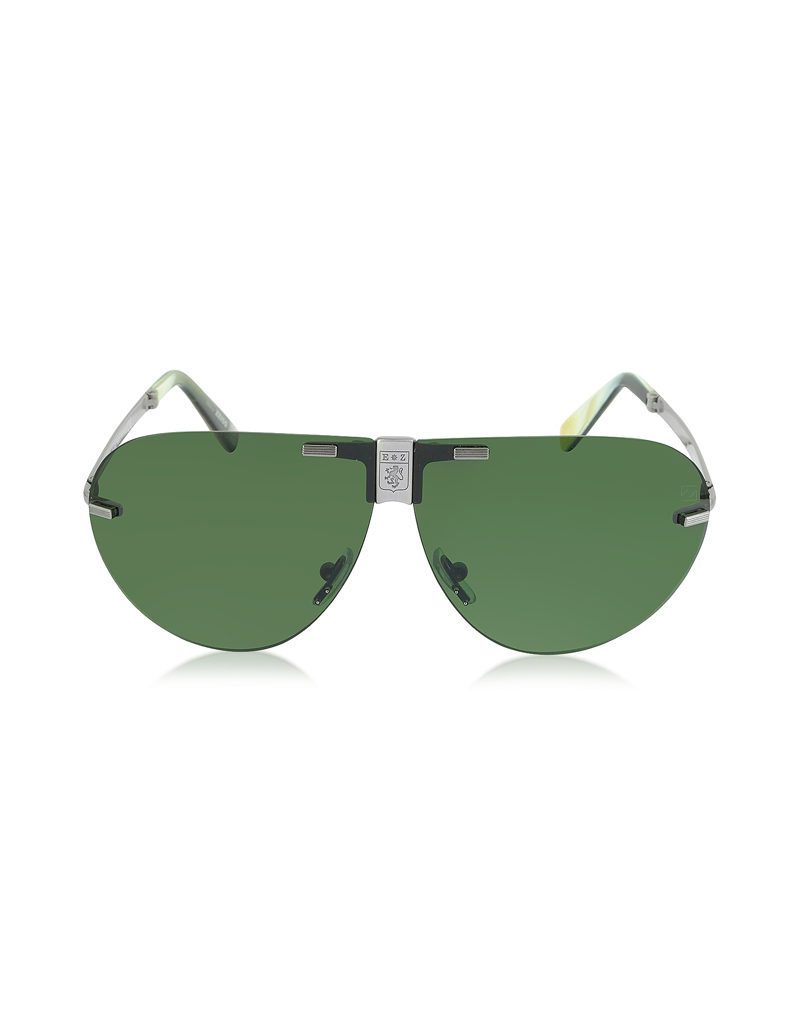 Ermenegildo Zegna Sunglasses, EZ0015 Metal Folding Aviator Men's Sunglasses