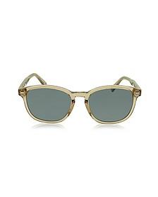 EZ0005 45N Transparent Acetate Men's Sunglasses - Ermenegildo Zegna