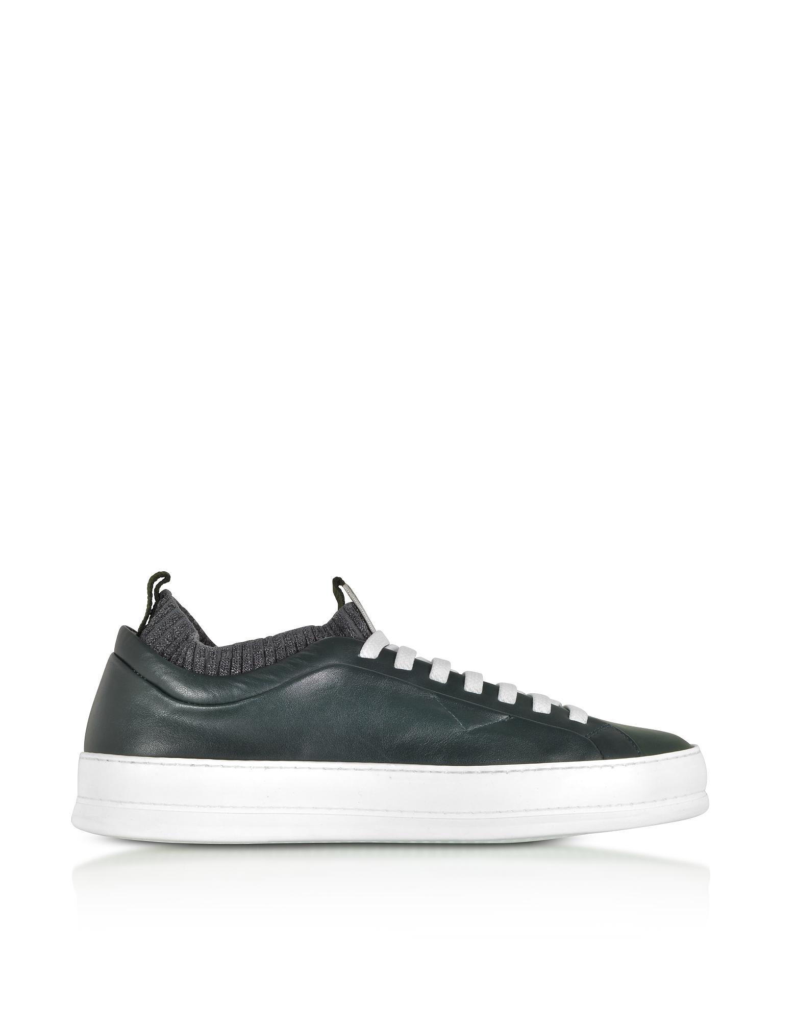 Ermenegildo Zegna Shoes, Iacopo Green Low Top Sneakers