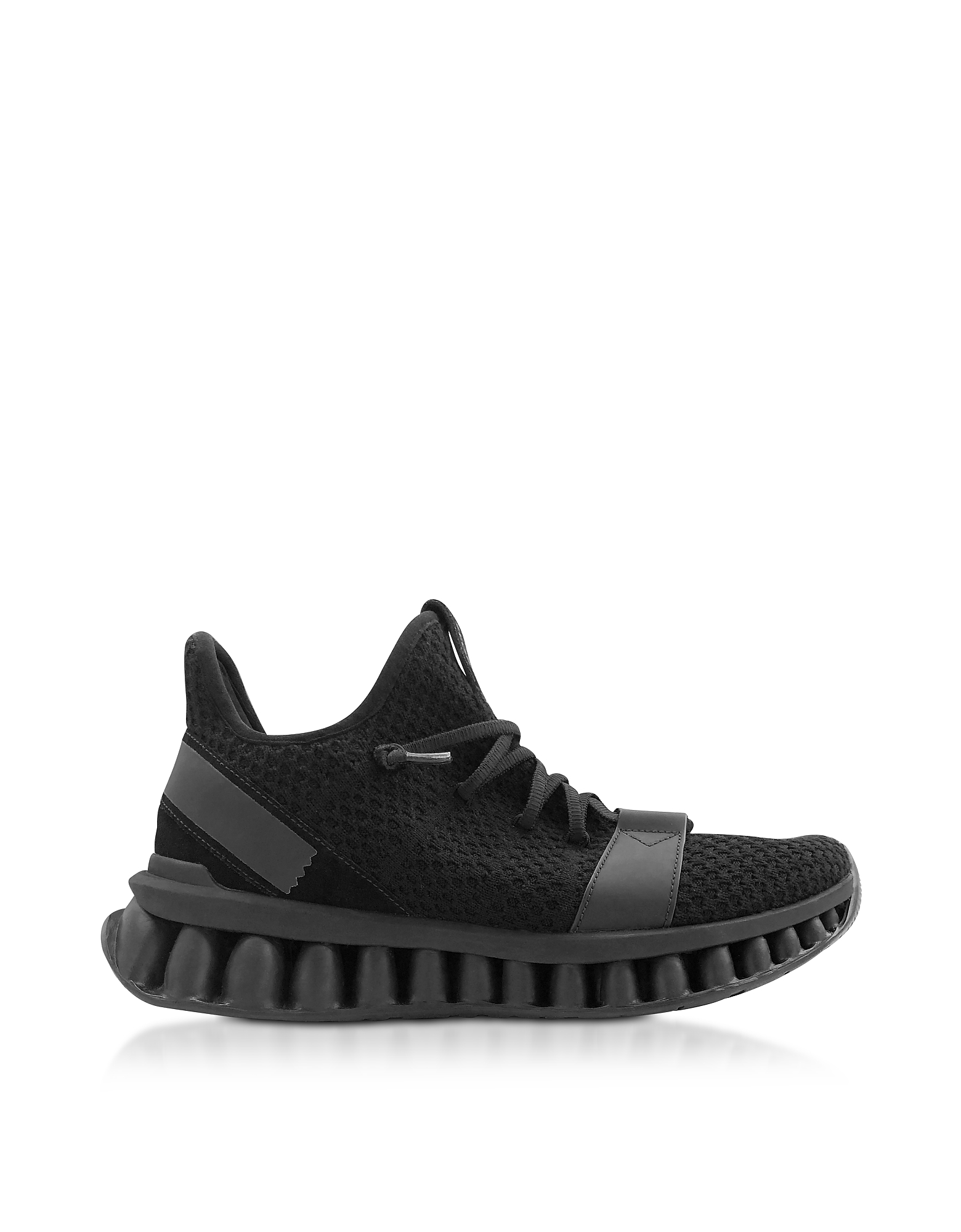 Ermenegildo Zegna Designer Shoes, Black TECHMERINO A-Maze sneakers
