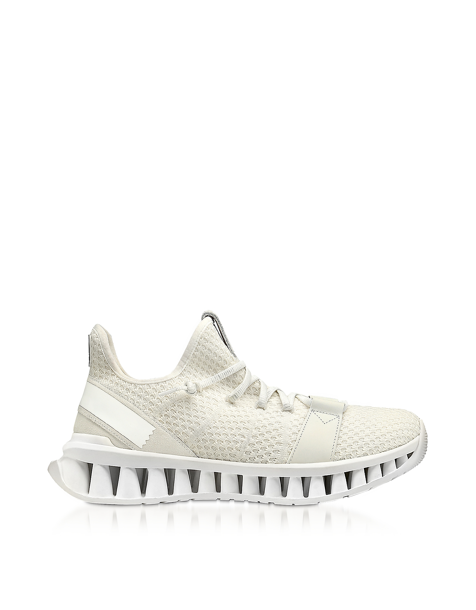 Ermenegildo Zegna Designer Shoes, White TECHMERINO A-Maze Sneakers