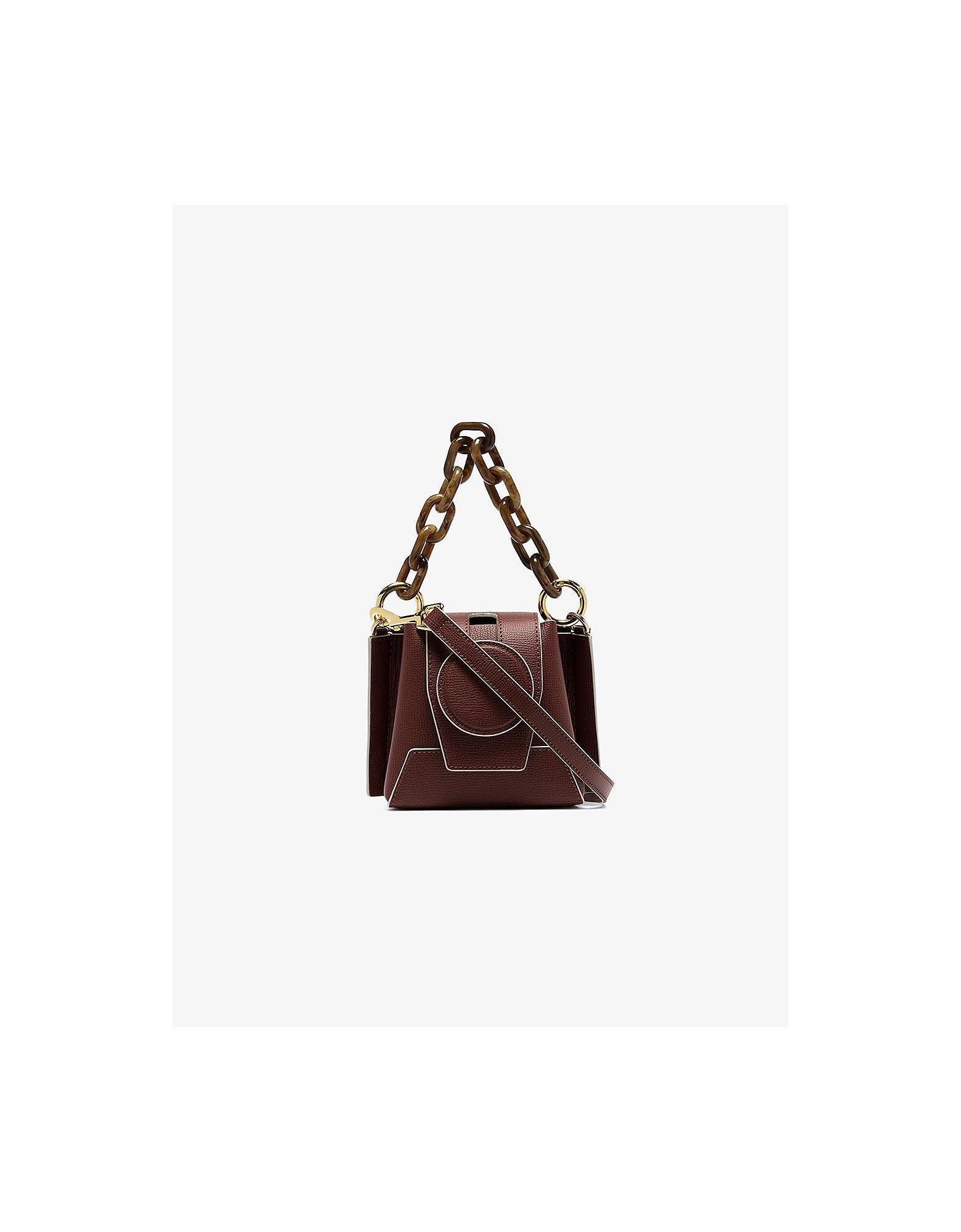 Yuzefi Designer Handbags, Auburn Daria Bucket Bag
