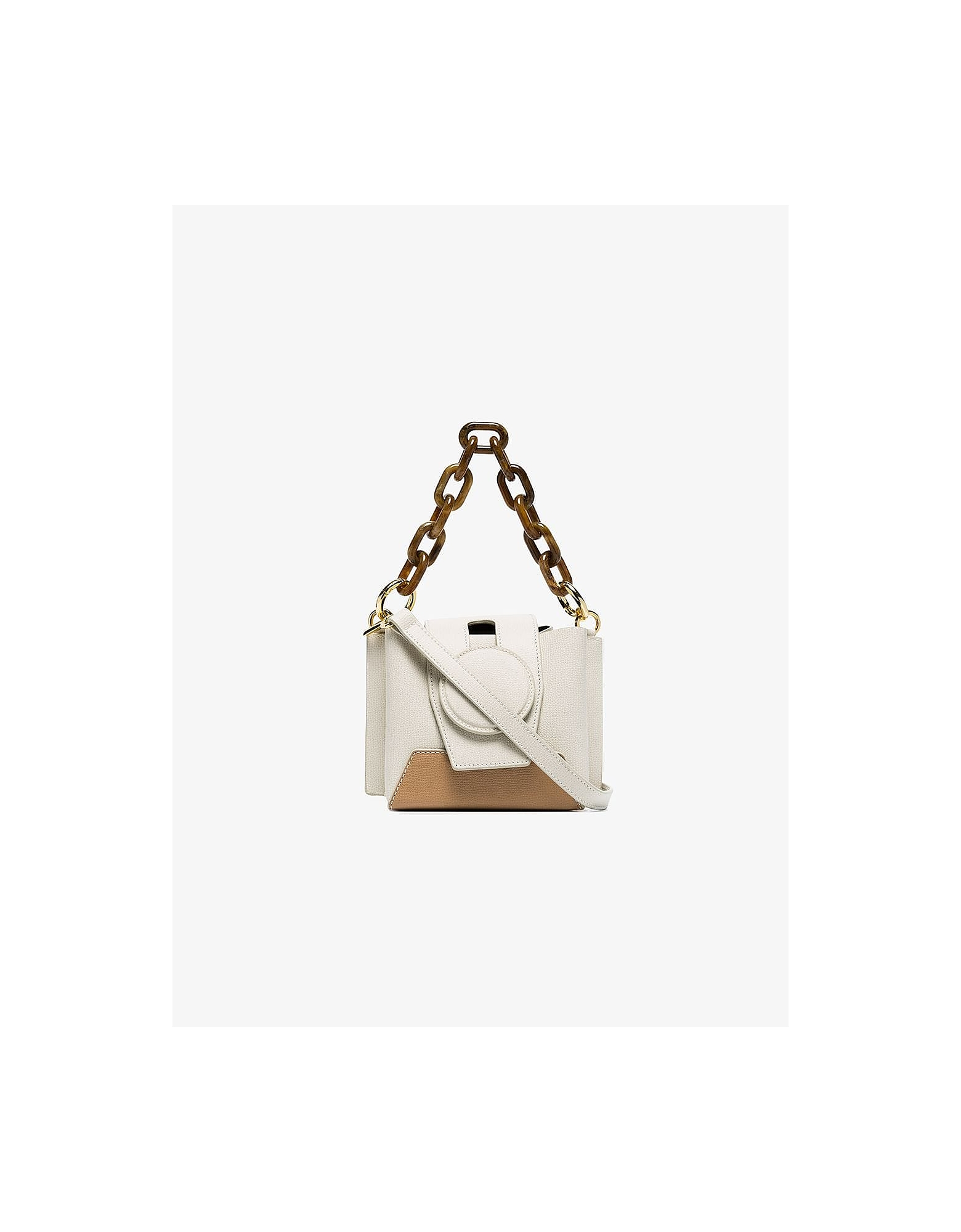 Yuzefi Designer Handbags, Cream Daria Bucket Bag