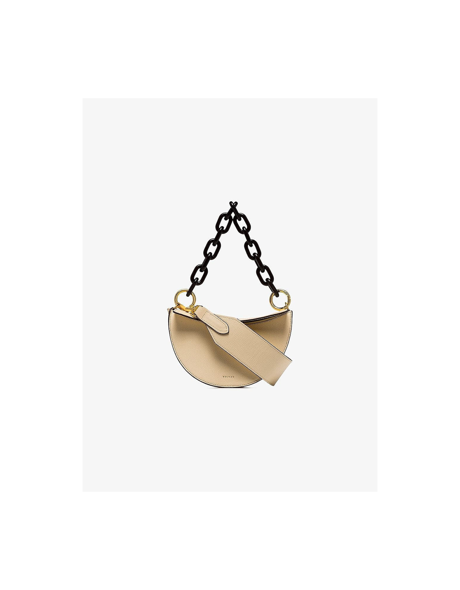 Yuzefi Designer Handbags, Cream Doris Leather Shoulder Bag