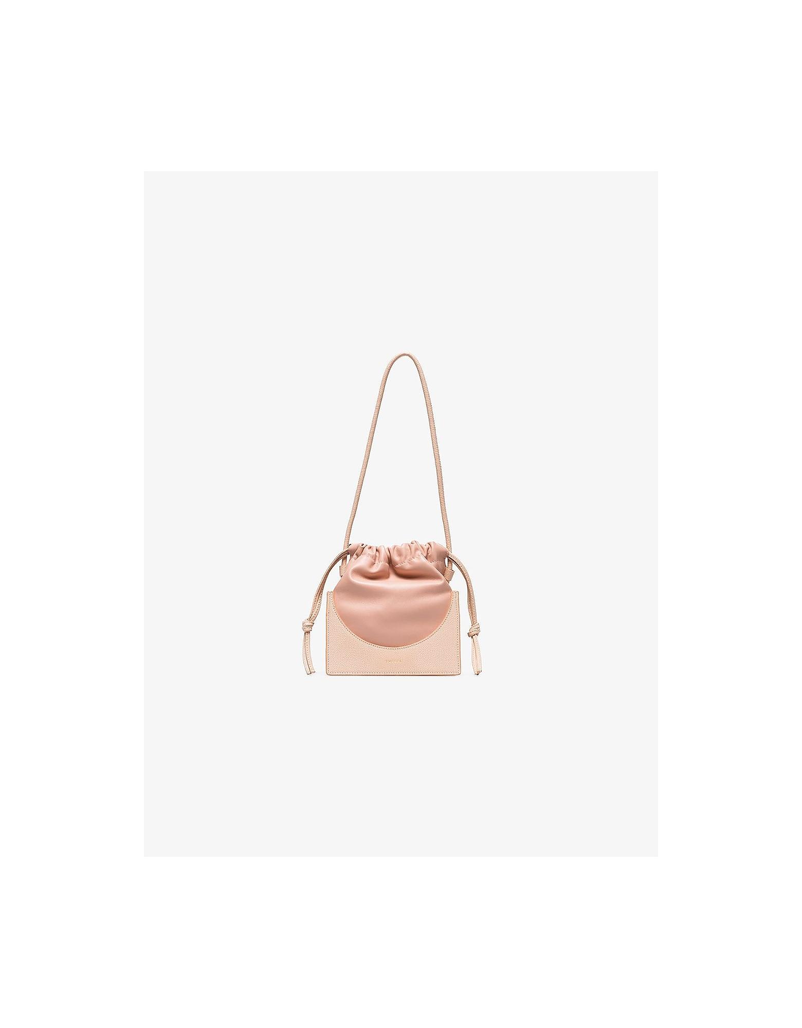 Yuzefi Designer Handbags, Pink Pouchy Leather Mini Bag
