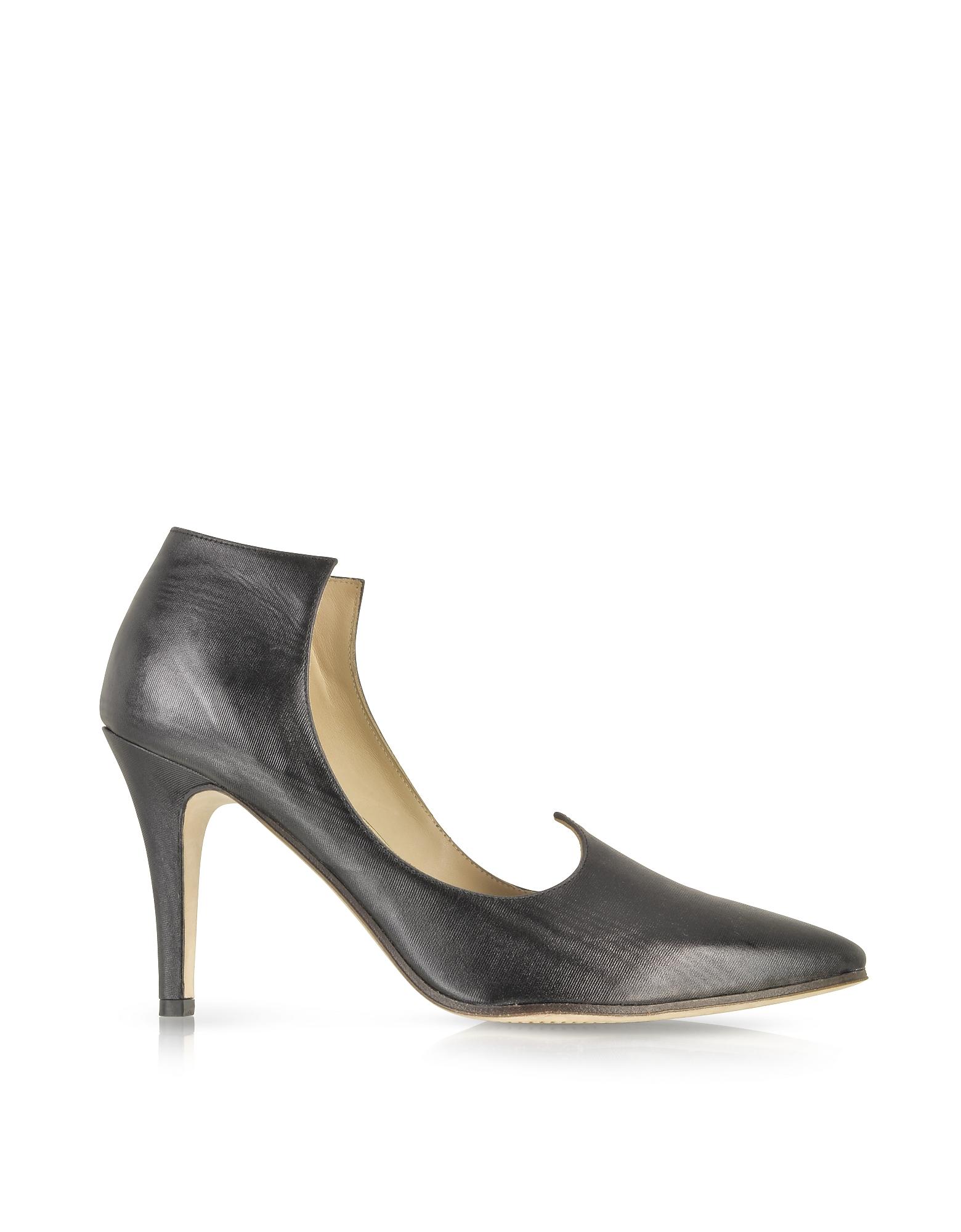 Baton Rouge - Черные Кожаные Туфли-Лодочки