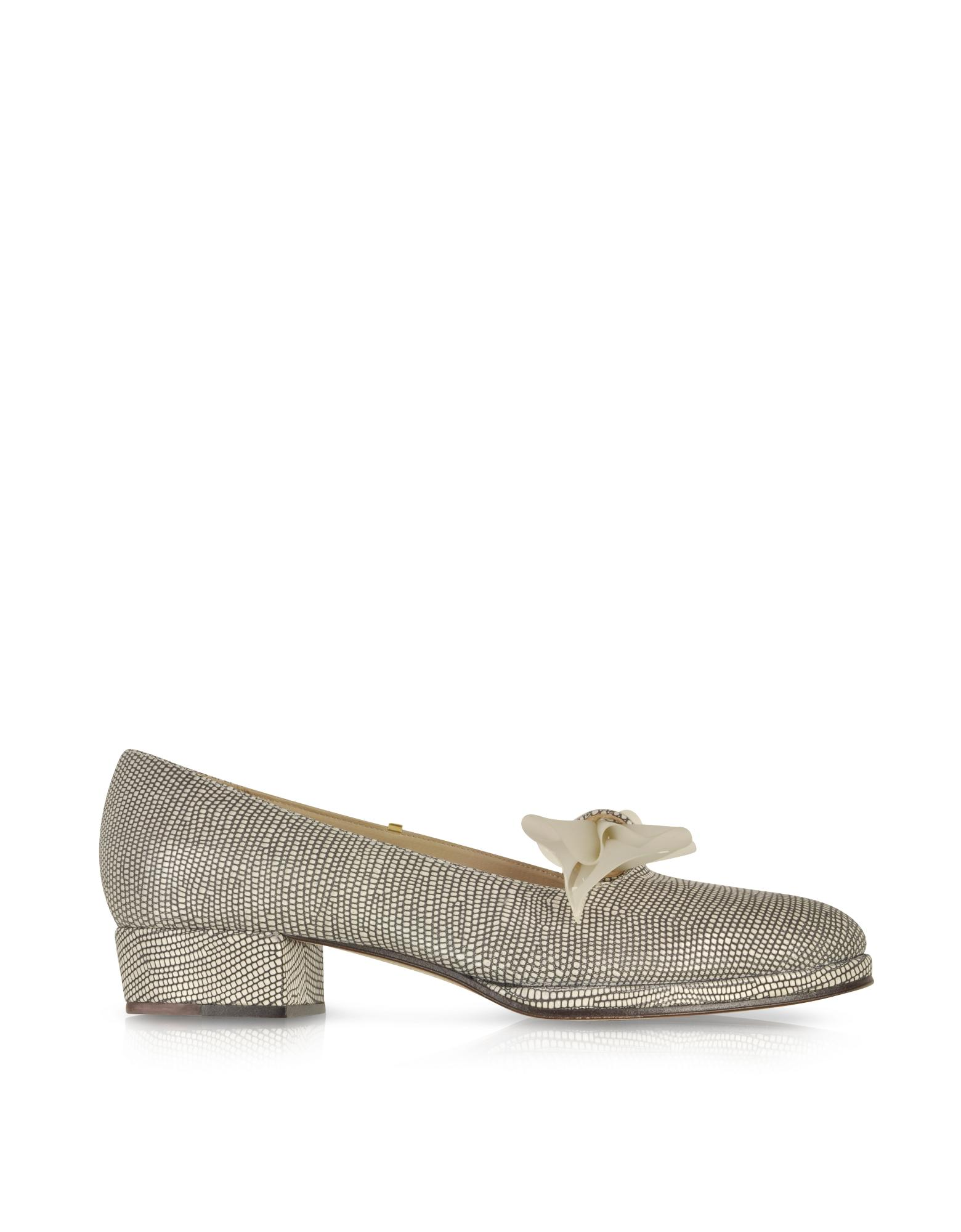 Ferriday Lizard Embossed Leather Loafer - Zoe Lee