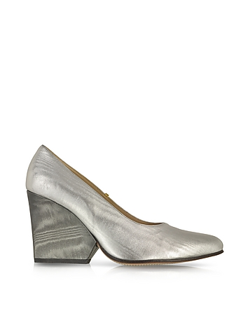 Zoe Lee - Folsom Metallic Leather Wedge
