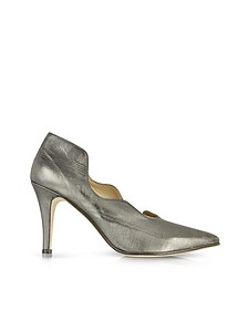 Marlon Gunmetal Leather Pump - Zoe Lee