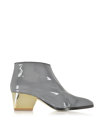 Eastwood Gray Patent Leather Ankle Boot