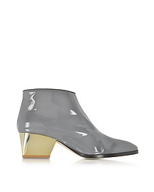 Eastwood Gray Patent Leather Ankle Boot  - Zoe Lee