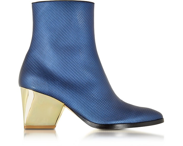 Addis Bluette Embossed Leather Bootie - Zoe Lee