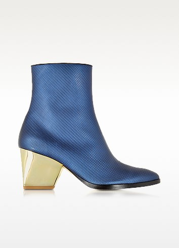 Addis Bluette Embossed Leather Bootie - Zoe Lee