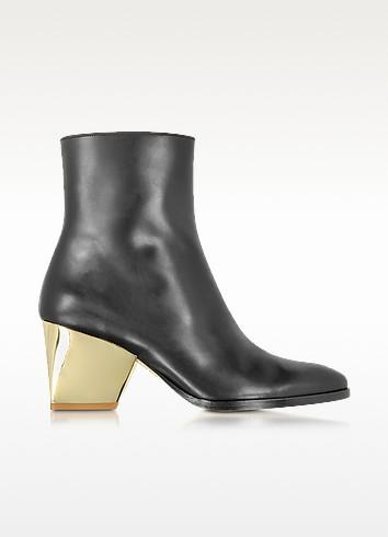 Addis Black Leather Bootie - Zoe Lee