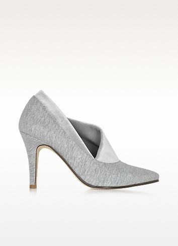 Noble Grey Cotton & Velvet Pump - Zoe Lee