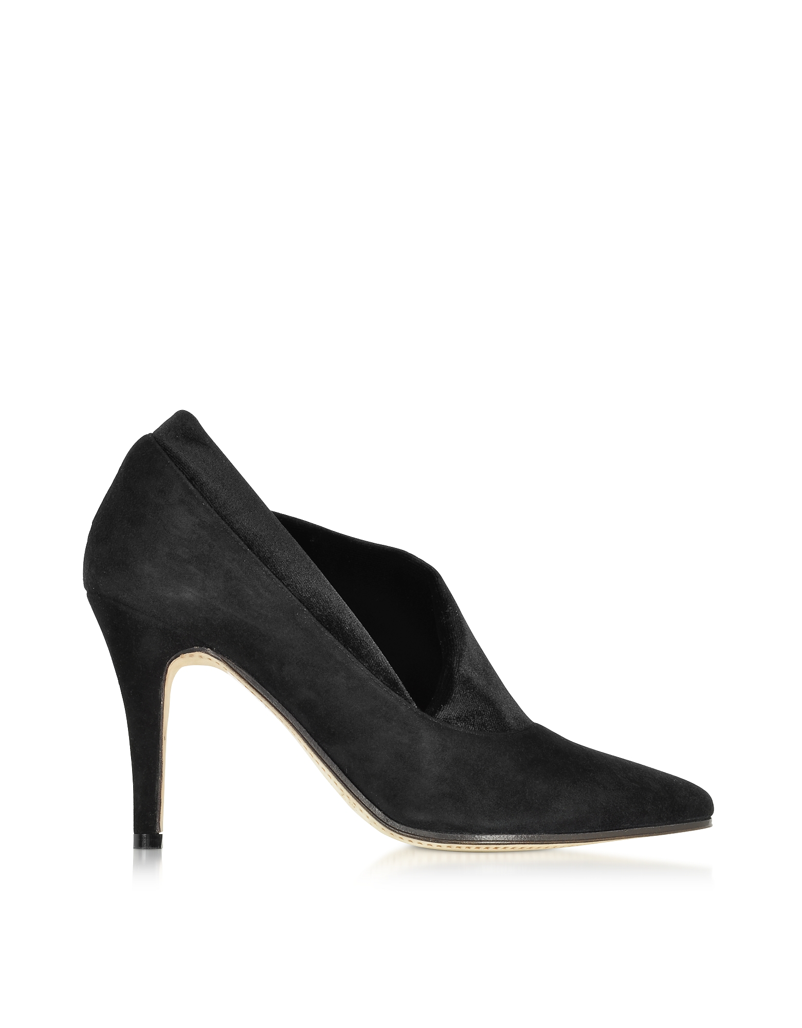 Noble - Черные Туфли-Лодочки из Замши и Бархата