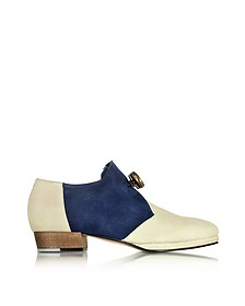 Catahoula Leather and Suede Mid Heel Shoes - Zoe Lee